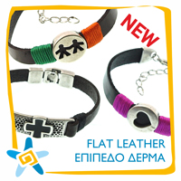 New flat leather bracelets