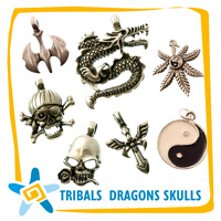 Tribal dragons skulls etc