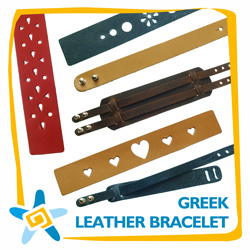 Greek Leather Bracelet