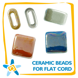 Ceramic Beads for Flat Cord