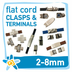 2-8mm flat cord clasps and terminals