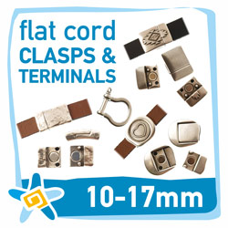 10-17mm flat cord clasps and terminals