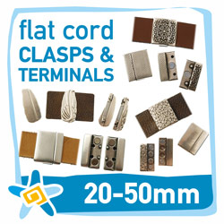 20-50mm flat cord clasps and terminals