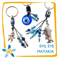 Keyrings with eye beads