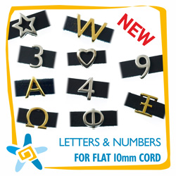Letters & Numbers for 10-20mm flat Cord
