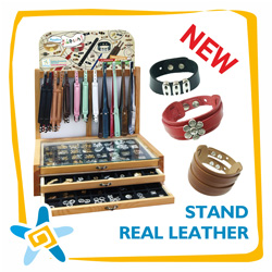 Stand Real Leather